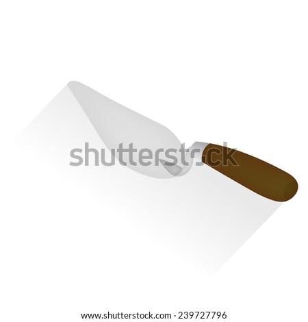 Trowel, vector icon - stock vector