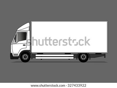 Truck - stock vector