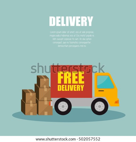 truck delivery transporting package design