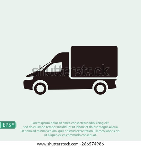 Truck icon - stock vector