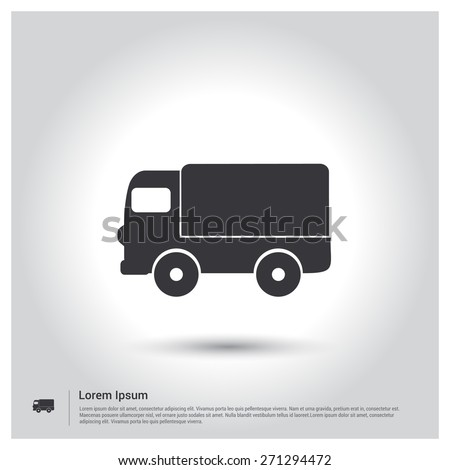 Truck icon icon delivery one set stock vector 343388318 shutterstock truck icon pictogram icon on gray background vector illustration for web site mobile voltagebd Choice Image