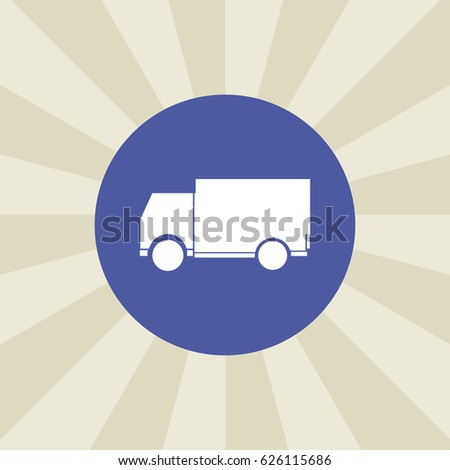 truck icon. sign design. background