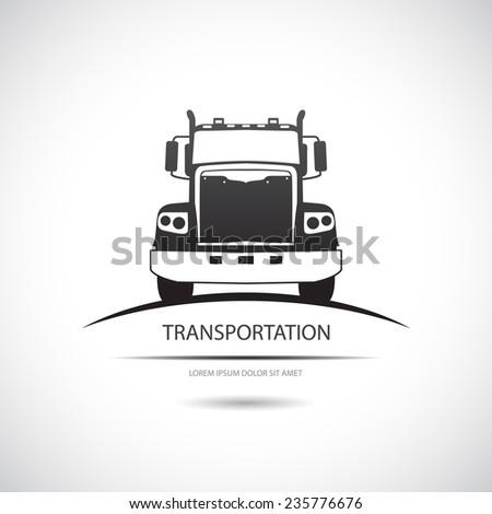 Truck icon. Vector. - stock vector