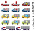 Truck icons for the web - stock vector