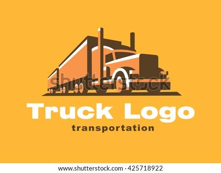 Truck logo illustration emblem - stock vector