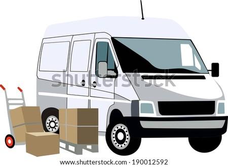 truck shipping - stock vector