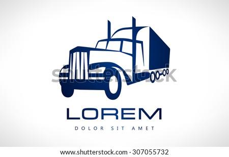 Truck silhouette - stock vector