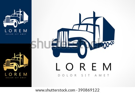 Truck silhouette vector - stock vector
