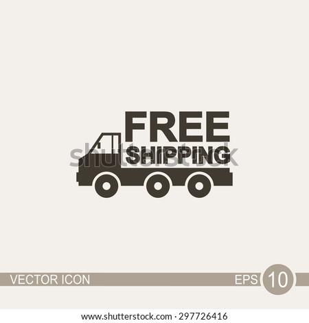 Truck vector icon.  - stock vector