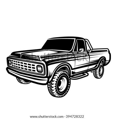 truck 4x4 pickup - stock vector