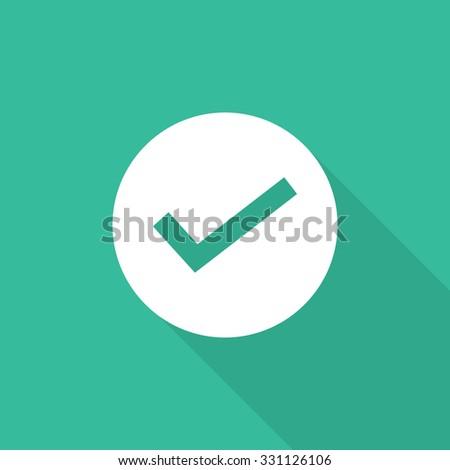 true icon - stock vector