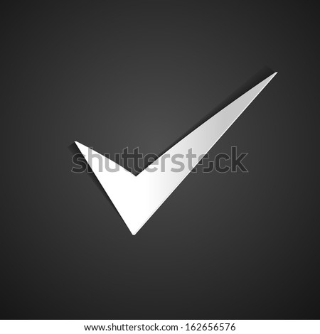 True sign,vector - stock vector