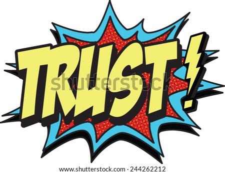 trust - stock vector