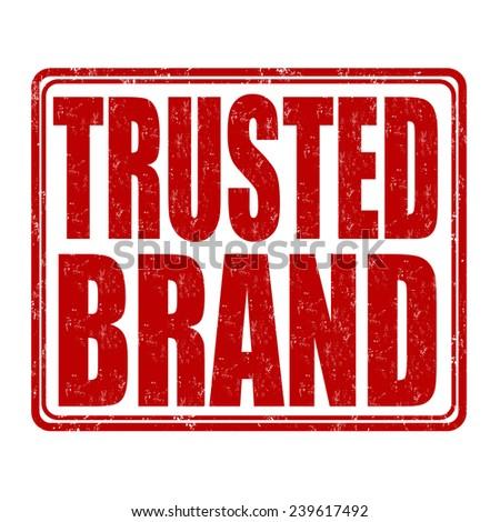 Trusted brand grunge rubber stamp on white background, vector illustration - stock vector