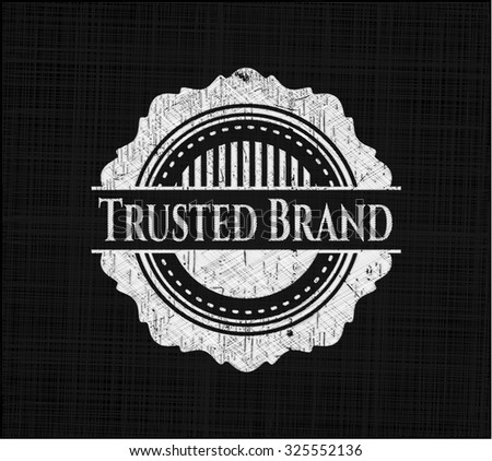 Trusted Brand on chalkboard - stock vector