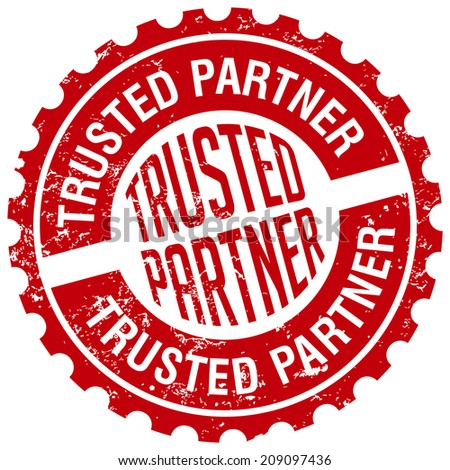 trusted partner stamp - stock vector
