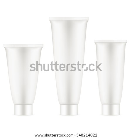 Tube Of Cream Or Gel Grayscale Silver White Clean. EPS 10 vector file included
