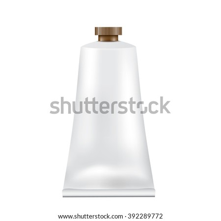 Tube of moisturizer isolated on white background - stock vector