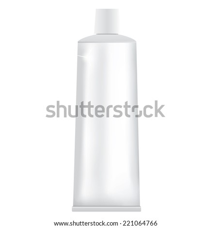 Tube of toothpaste or cream isolated on white background. - stock vector