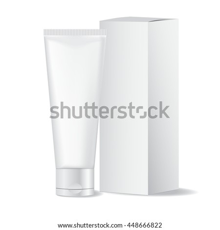 tubes for cosmetics, hand cream, packing - stock vector