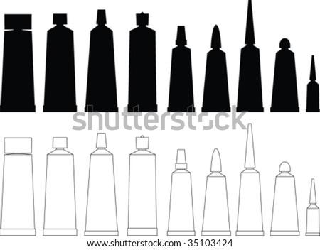 Tubes vector collection - stock vector
