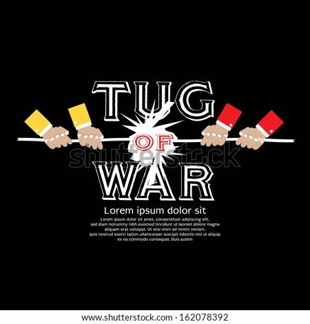 Tug Of War Vector Illustration EPS10 - stock vector