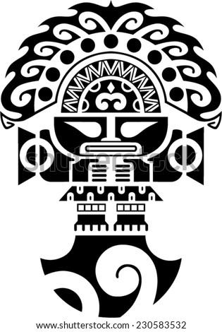 Tumi Tribal Ceremonial Knife Inca Culture Stock Vector 2018