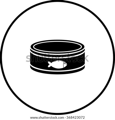 tuna can symbol - stock vector