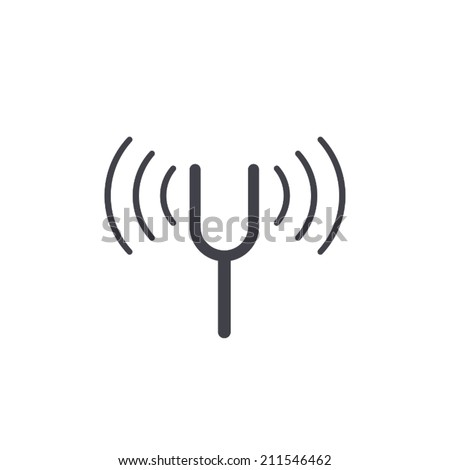 tuning fork icon , vector illustration - stock vector
