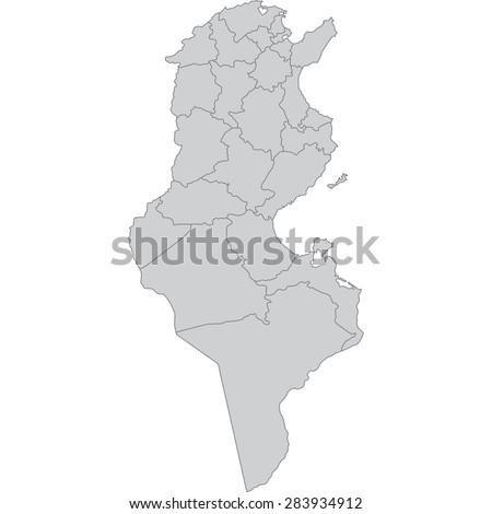tunisia - stock vector