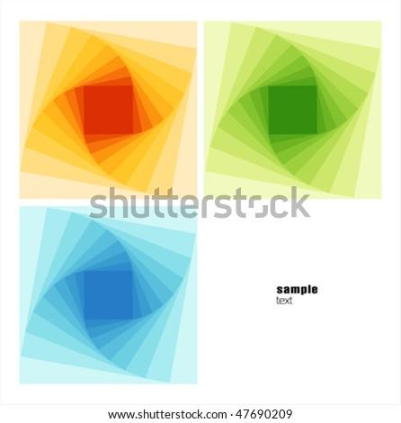 Tunnel abstract postcard  illustration - stock vector