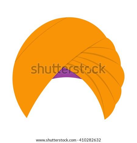 Turban headdress vector illustration isolated on a white background - stock vector
