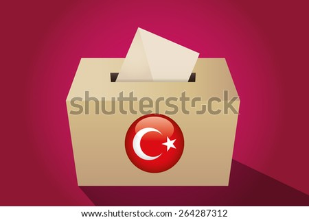 Turkey election ballot box for collecting votes, magenta background - stock vector