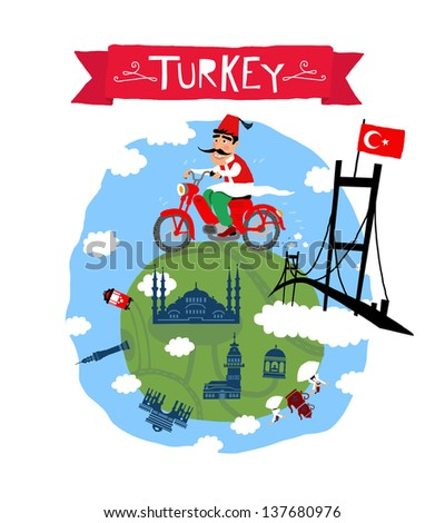 Turkey icon - stock vector