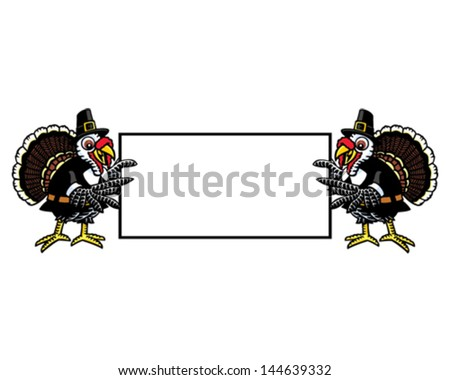 Turkey Sign - stock vector