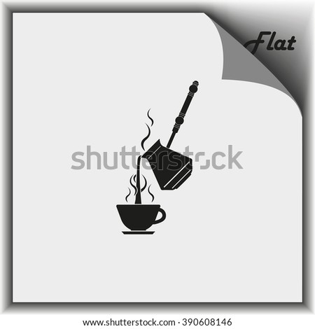 Turkish coffee illustration. Cup icon.