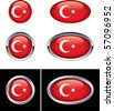 Turkish Flag Buttons - stock vector