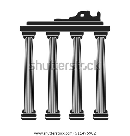 Turkish ruins icon in black style isolated on white background. Turkey symbol stock vector illustration.