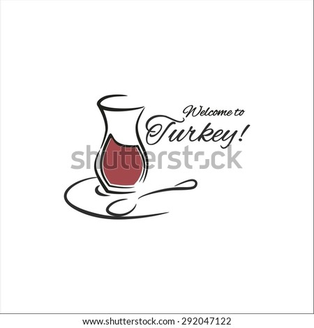 Turkish tea - stock vector
