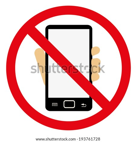 turn off your mobile no cell stock vector 2018 193761728 rh shutterstock com No Cell Phone Emoji No Cell Phone Usage Sign