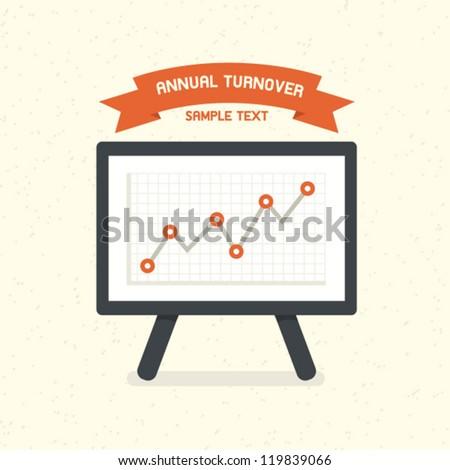 Turnover Graph - stock vector