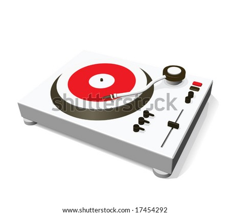 turntable (vector) - stock vector