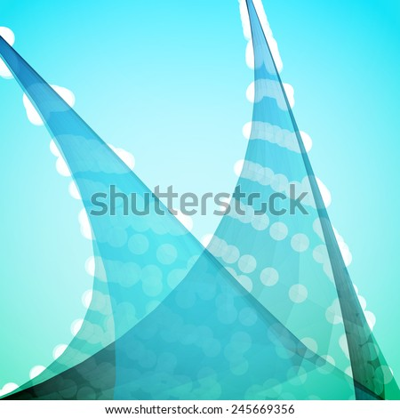 Turquoise Abstract Vector Background - stock vector