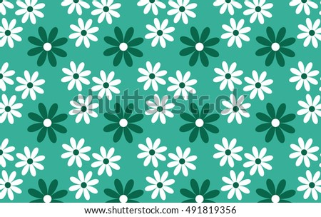 Turquoise background with white daisies