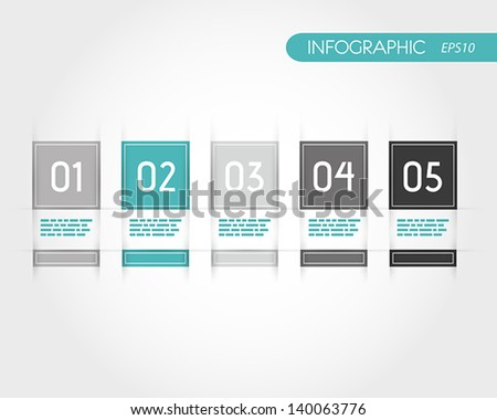 turquoise square infographics with fringe. infographic concept. - stock vector