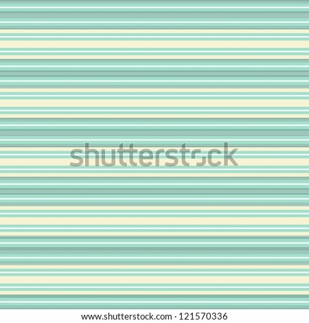 turquoise white beige thin stripes retro traditional geometric pattern - stock vector
