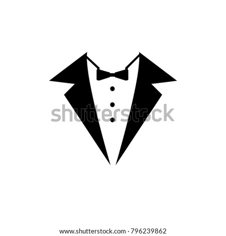 Tuxedo logo design illustration vintage hipster vector