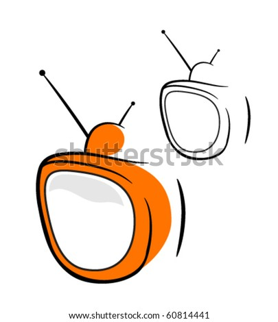 TV - stock vector