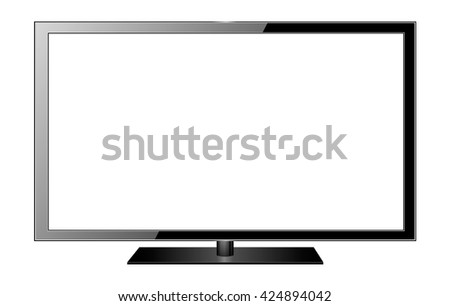 TV flat screen lcd, plasma. Vector illustration