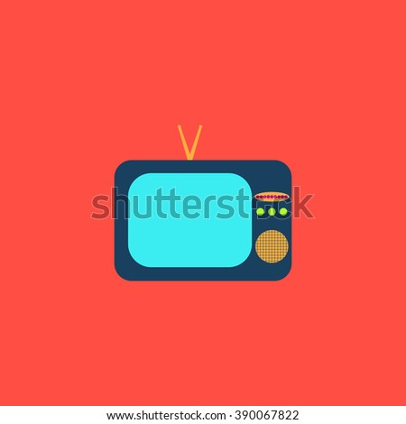 TV. Flat simple modern illustration pictogram. Collection concept icon for infographic project and logo - stock vector